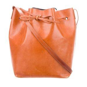 Mansur Gavriel brown leather bucket bag w/dust bag